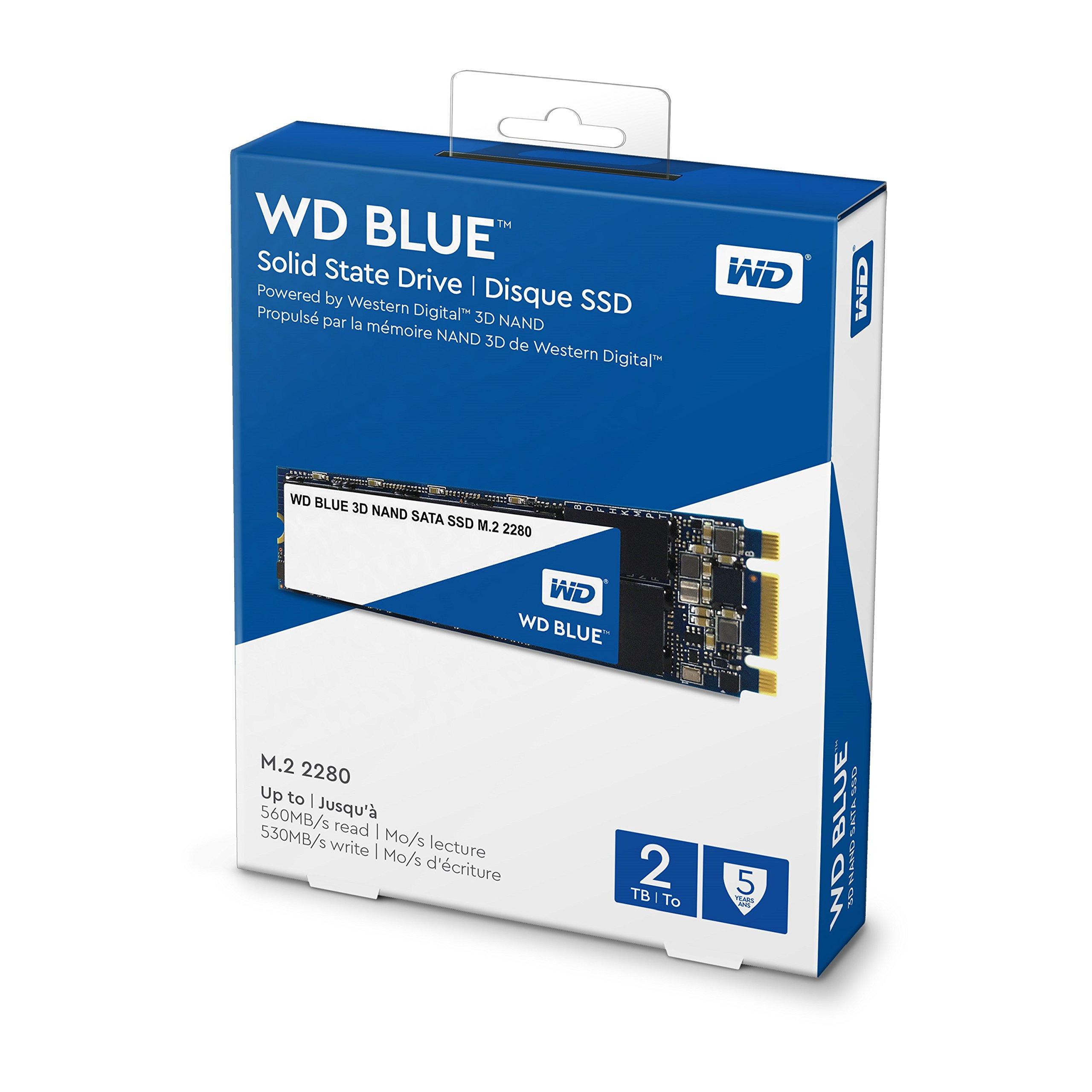 WD Blue 3D NAND 2TB PC SSD - SATA III 6 Gb/s, M.2 2280 - WDS200T2B0B by Western Digital (Image #3)