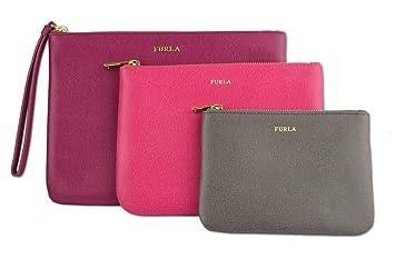 Furla - Organizador de bolso Brombeere, Pink, Grau-Braun: Amazon.es: Equipaje