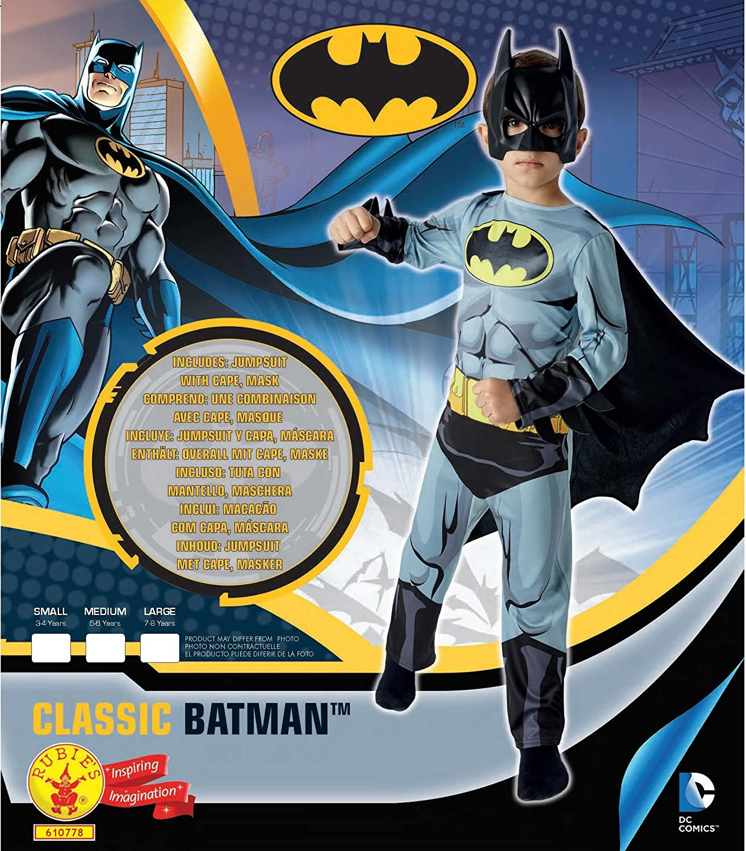 Amazon.com: Rubies Official Batman Boys Fancy Dress Superhero Comic Book Kids Childrens: Clothing