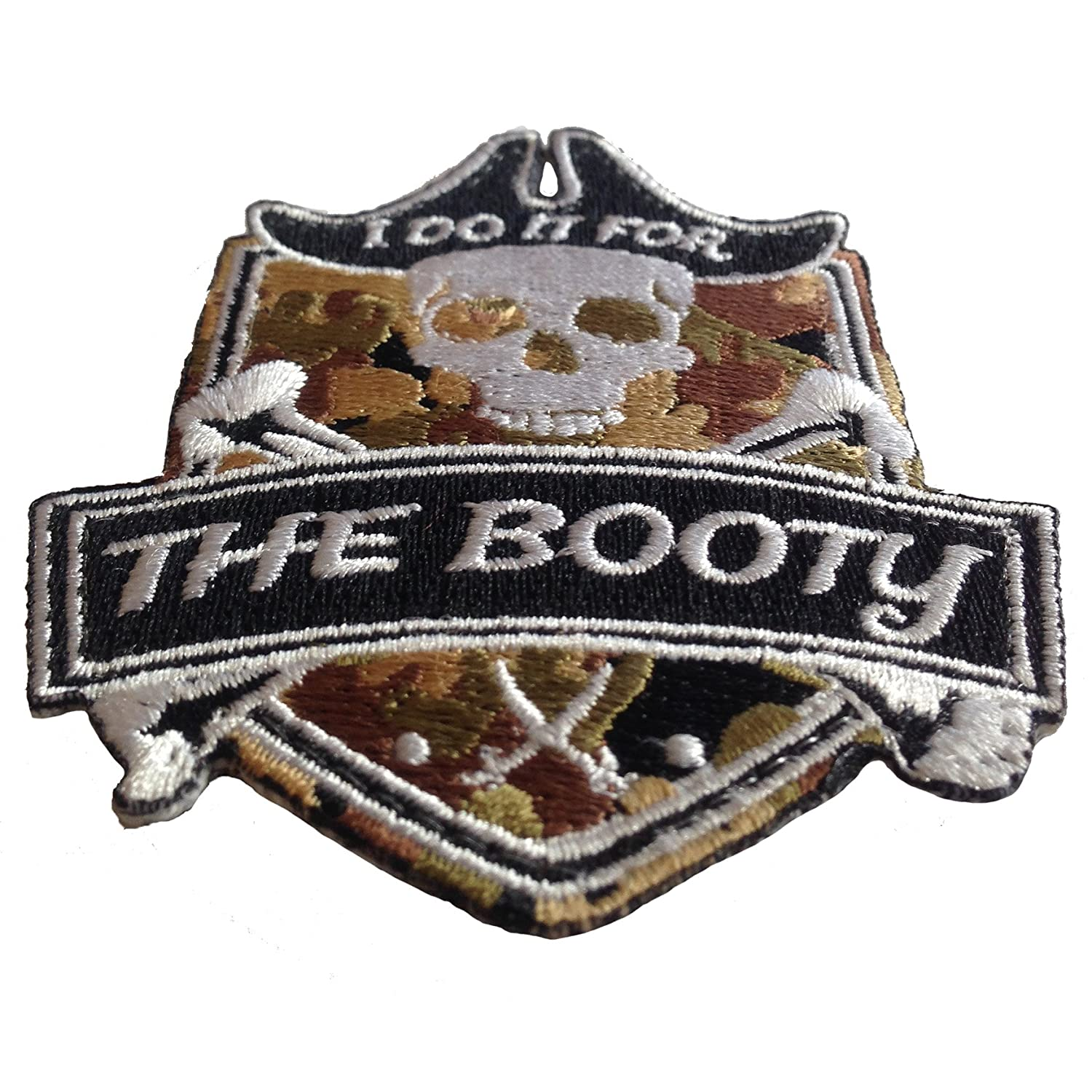 Pirate I Do It for The Booty Embroidered Morale Patch