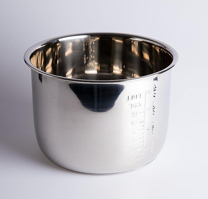 Cubeta Acero INOX para Olla programable de 6 litros. GM, Cocimix, Newcook, Erika, etc: Amazon.es: Hogar