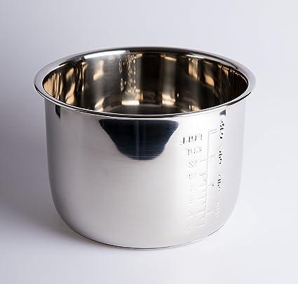 Cubeta Acero INOX para Olla programable de 6 litros. GM, Cocimix, Newcook,
