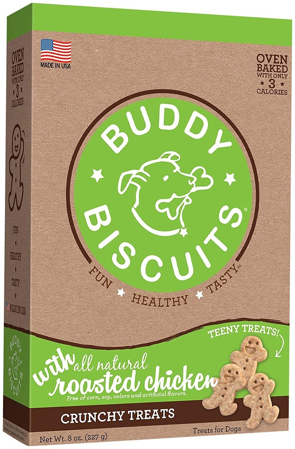 Cloud Star Buddy Biscuits Crunchy Itty Bitty Oven Biscuits Dog Treats with Natural Chicken & Carrots 8 oz