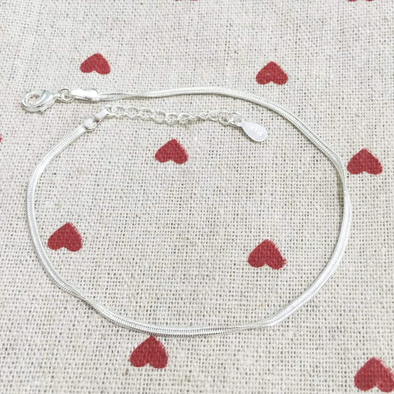 Chereda Bracelet de Cheville en Argent Sterling 925 avec cha/îne Serpent pour Femme Adolescente Fille