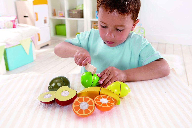 Amazon.com: Hape Award Winning Fresh Fruit Wooden Kitchen Play Food ...