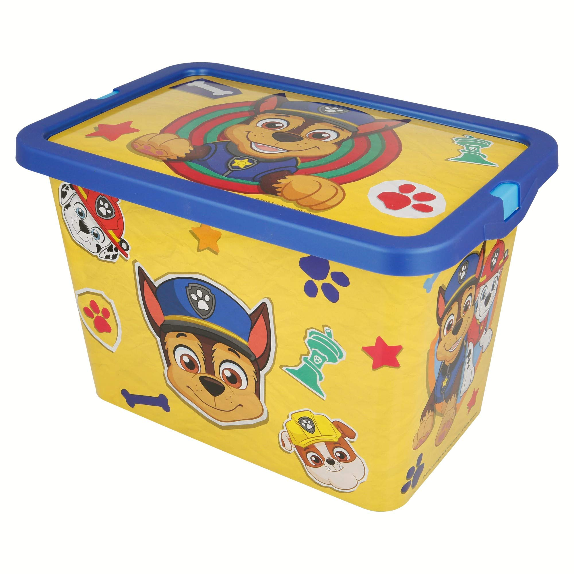 Paw Patrol Paw Patrol Paw Patrol -ST-02544 Storage Box Click 7L Boy Plain, Multi-Colour, Medium (Stor ST-02544)