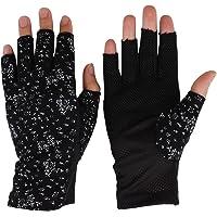 JIAHG Guantes de verano para mujer, de algodón, guantes cortos, antideslizantes, protección contra rayos UV, finos…