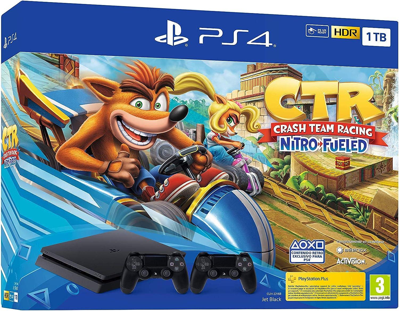 PlayStation 4 (PS4) - Consola, 1 TB, Color Negro + Crash Team ...