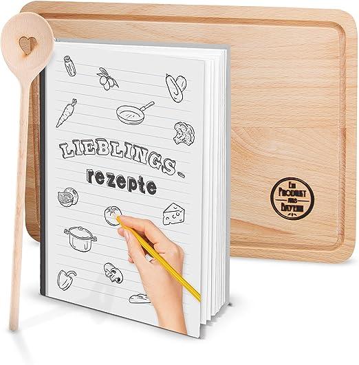 Logbuch-Verlag - Libro de recetas (DIN A5, tapa dura, con
