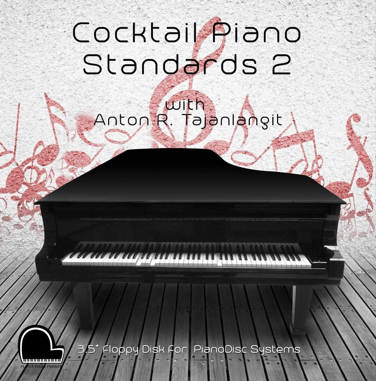 "Cocktail Piano Standards 2 - PianoDisc Compatible Player Piano Music on 3.5"" DD 720k Floppy Disk"