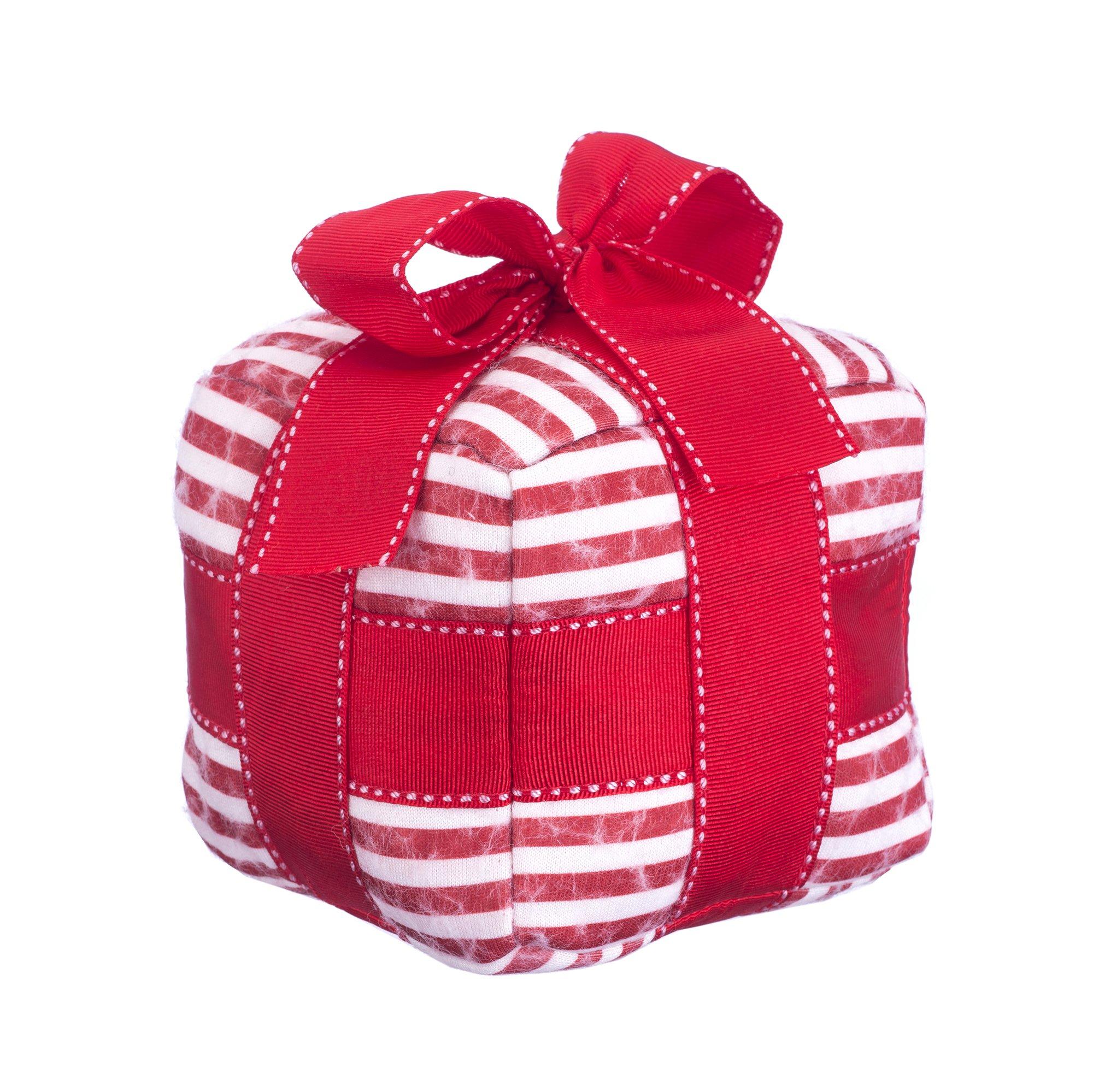 Jax and Bones Holiday Gift Woolie Dog Squeak Toy, 5''