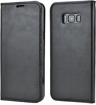 Mulbess Funda Samsung Galaxy S8 Plus [Libro Caso Cubierta] Slim de Billetera Cuero Carcasa para Samsung Galaxy S8 Plus / S8+ Case, Negro: Amazon.es: Electrónica