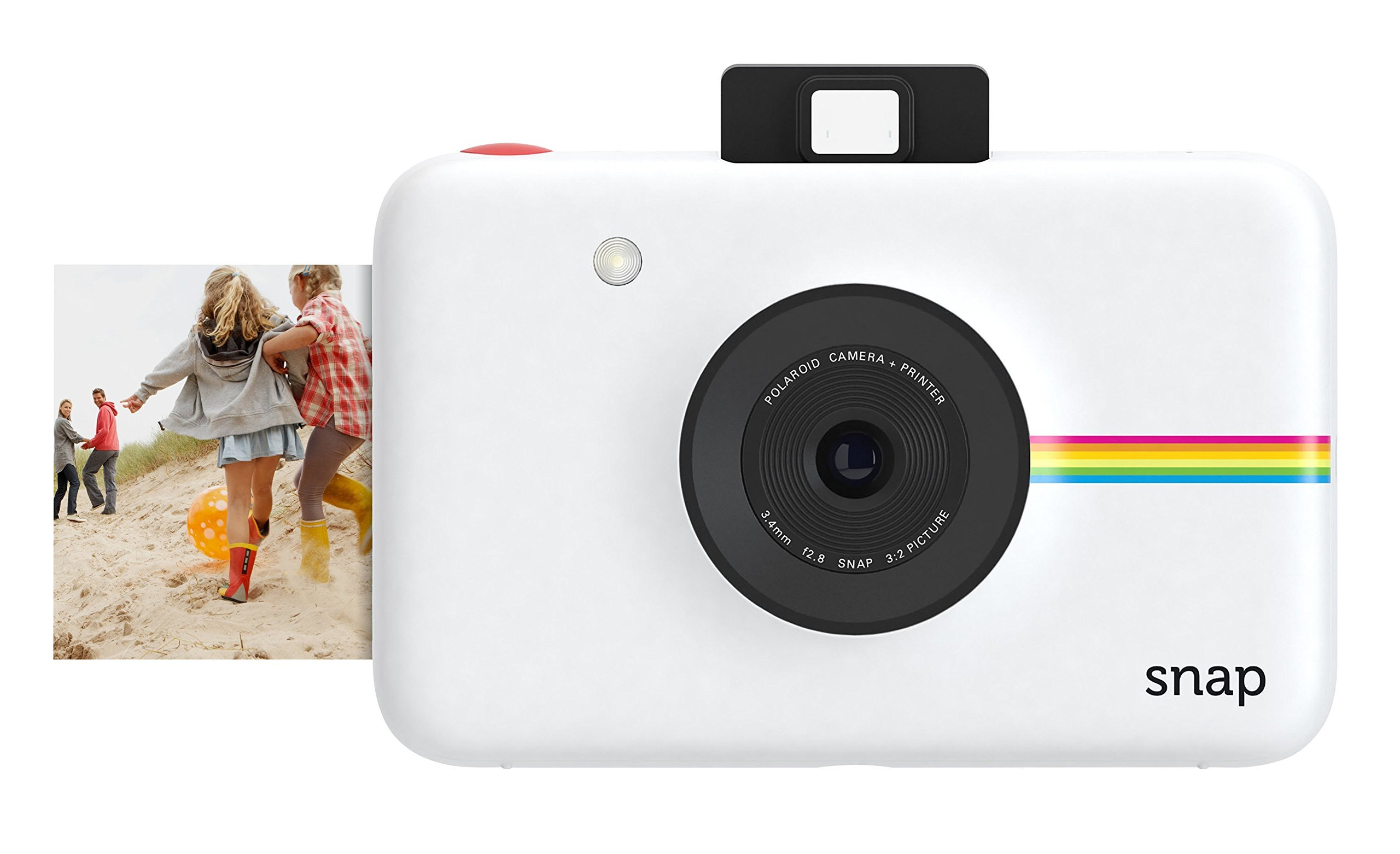 Polaroid Snap Instant Digital Camera (White) with ZINK Zero Ink Printing Technology by Polaroid