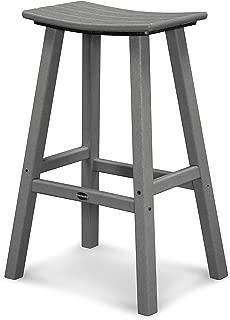 "product image for POLYWOOD 2002-GY Traditional 30"" Saddle Bar Stool, Slate Grey"