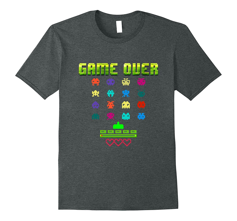 Game Over 80s Classic Retro Arcade Shirt Eighties Video Game-BN