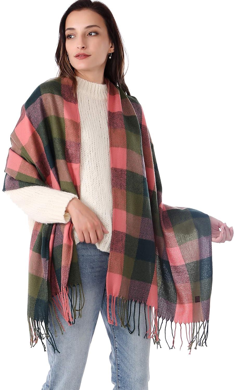 Long Cashmere Scarves Women Tartan Ladies Check Wraps and Shawls Wool MissShorthair Plaid Winter Scarf Warm Female