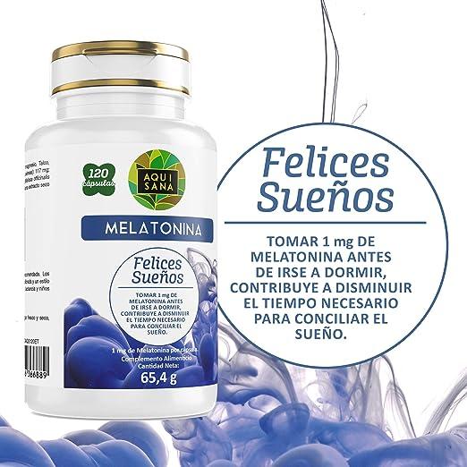 Melatonina Aquisana- Ayuda a descansar - Valeriana - Tila - Sueño ...