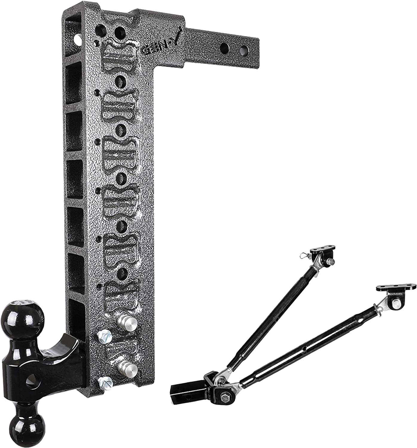2.5 Weight Distribution Kit for any 2 GENY Drop Hitch /& Ball Mount at any Drop Height