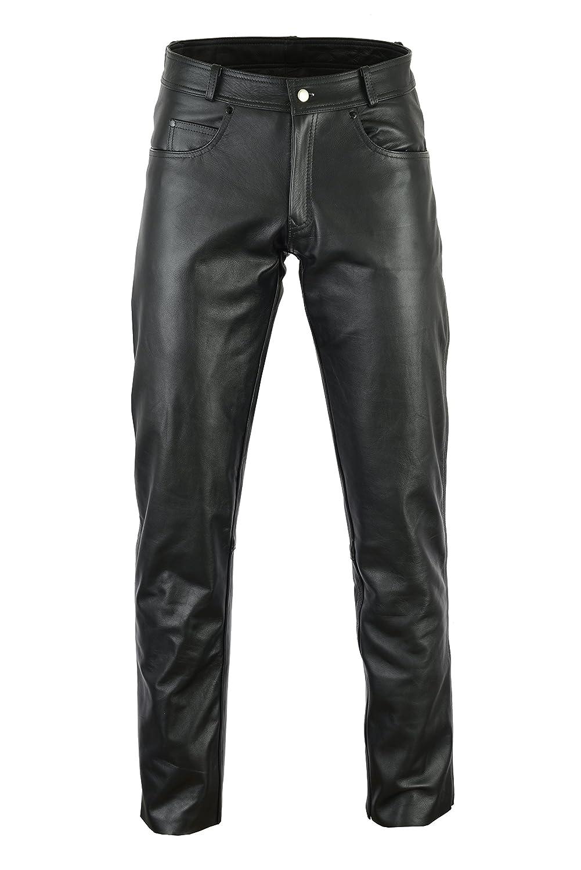 Bikers Gear Rock and Roll Pantalon de moto en cuir pour homme Ce1621 1/PU Armour Premier Vache Taille taille 3/X L Noir