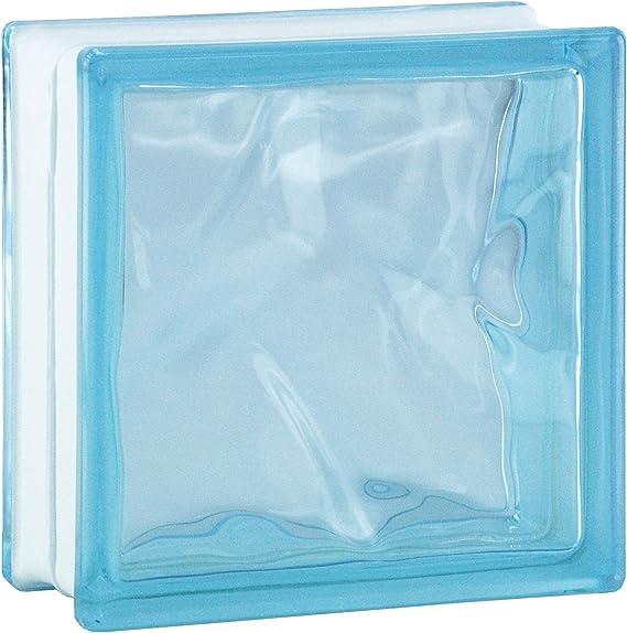 6 piezas BM bloques de vidrio nube caribe 19x19x8 cm: Amazon.es: Bricolaje y herramientas