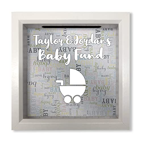 Personalised Wooden Box Frame For Gender Reveal New Baby Special Unique Gift