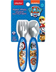 Playtex Paw Patrol Toddler Utensils - Boys Fork & Spoon Set, Blue