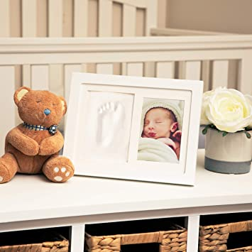 Premium Clay /& Wood Frame Memorable Keepsakes Decorations for Room Wall or Table Decor My First Year 12 Month Picture Photo Frame for Boys and Girls Cool /& Unique Baby Shower Gifts for Registry