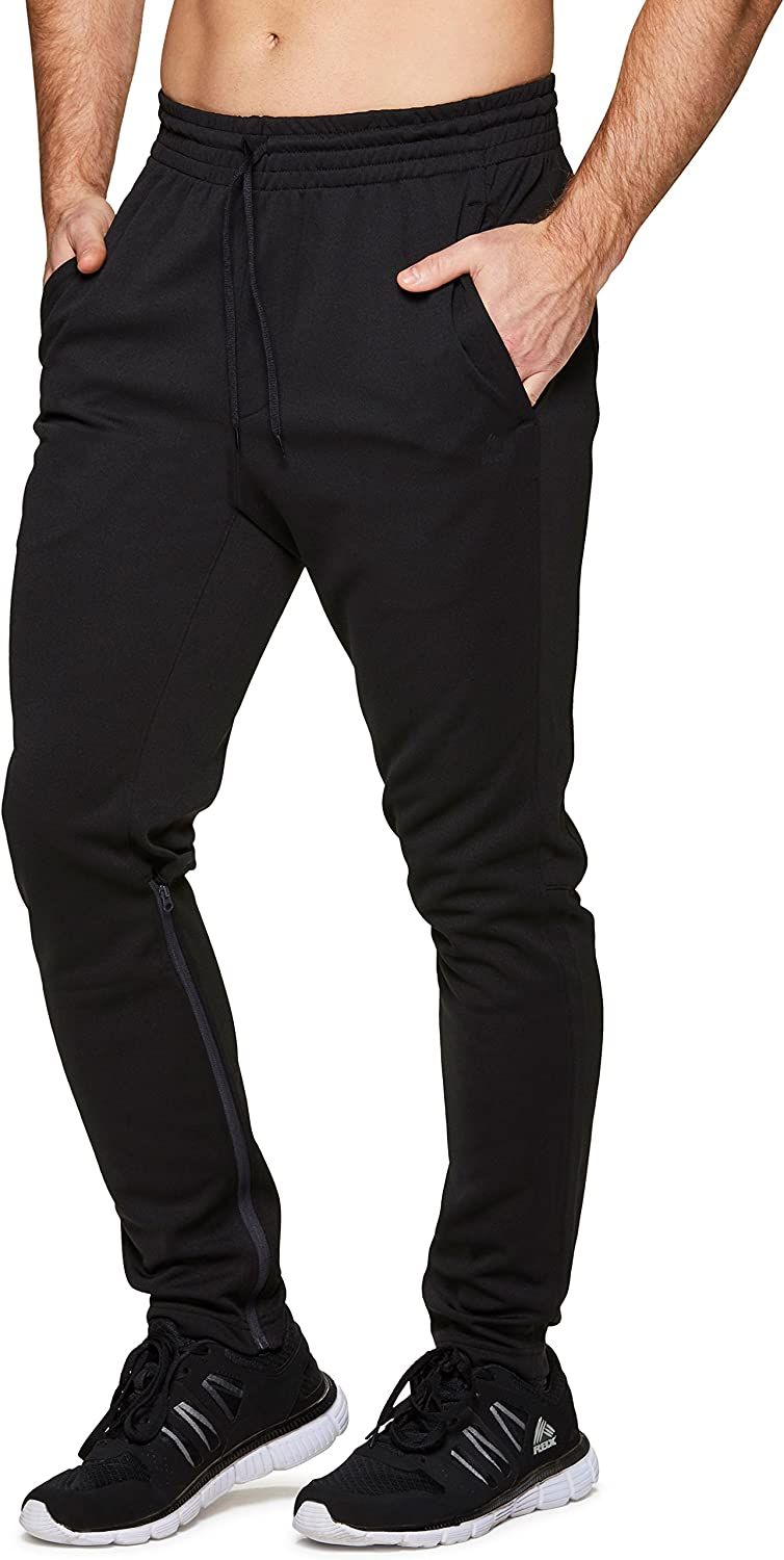 RBX Active Men's Athletic Performance Quick Dry Breathable Tapered Jogger Sweatpant with Pockets
