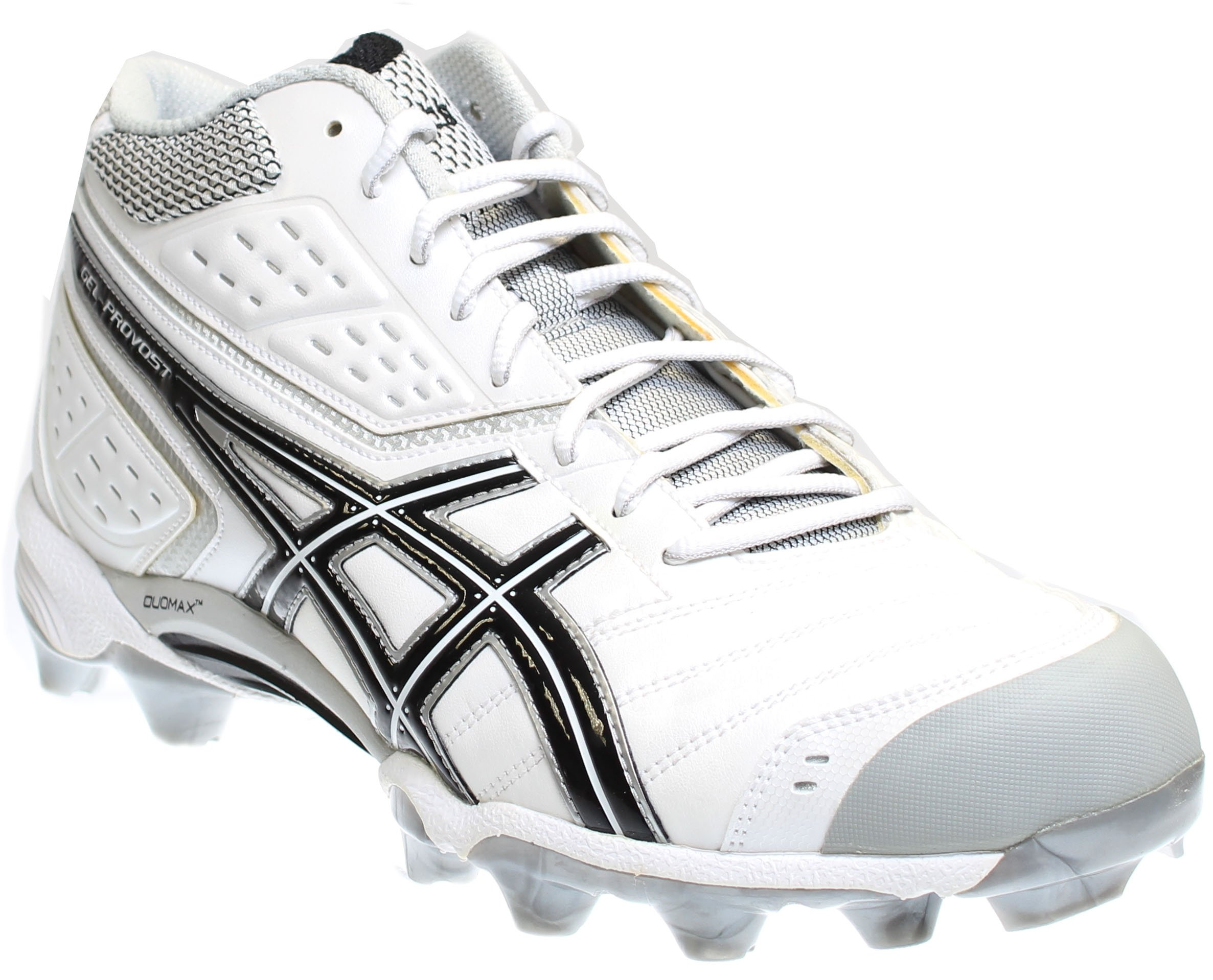ASICS Men's GEL-Provost Lacrosse Cleat,White/Black/Silver,10.5 M US by ASICS