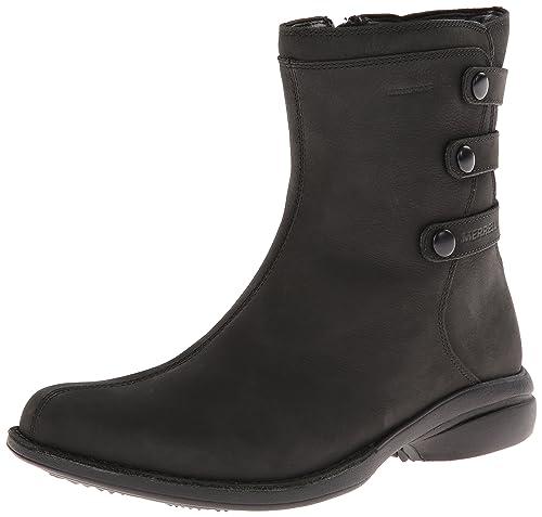 Merrell Captiva Launch Mid 2 Waterproof, Women's Ankle Boots, Black (Black),