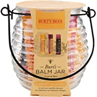 Set de regalo con bálsamo hidratante en tarro Burt's Bees con 1 bálsamo labial con cera de abejas original 100% natural…