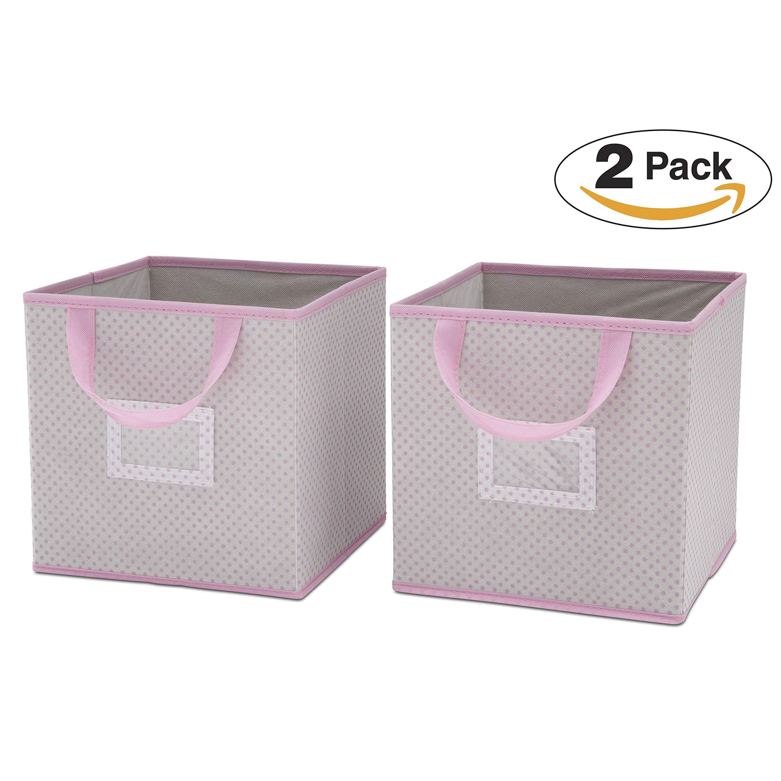 Delta Children 2 Count Nursery Organizer Bin Set, Infinity Pink