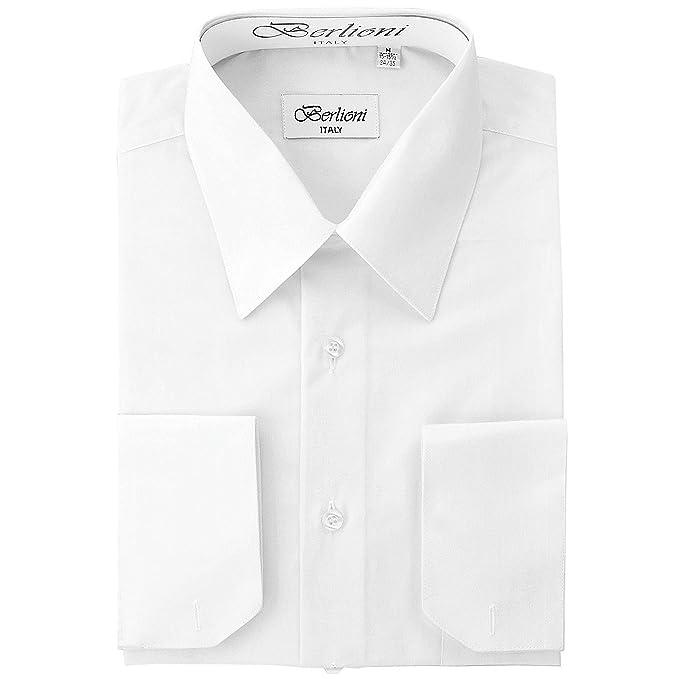 Amazon.com: Camisa de vestir con puños franceses ...