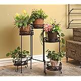 Dipamkar®Portavasi da interno e per giardino esterno, stile vintage, in metallo, per 5 vasi
