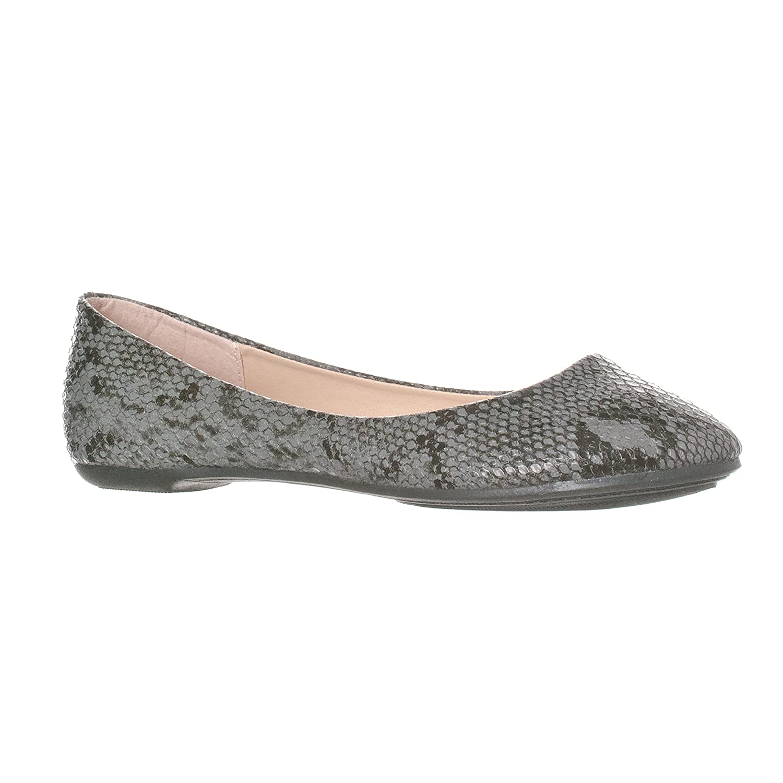 Riverberry Women's Aria Closed, Round Toe Ballet Flat Slip On Shoes B017CC74HK 6 M US|Black Python