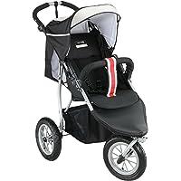 knorr-baby 883888 - Silla de paseo deportiva (cubierta desmontable, cesta), color negro