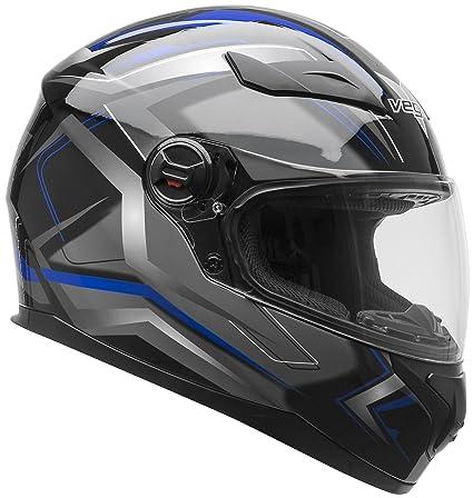 Vega Helmets AT2 Street Motorcycle Helmet for Men & Women – DOT Certified Full Face Motorbike Helmet for Cruisers Sports Street Bike Scooter Touring ...