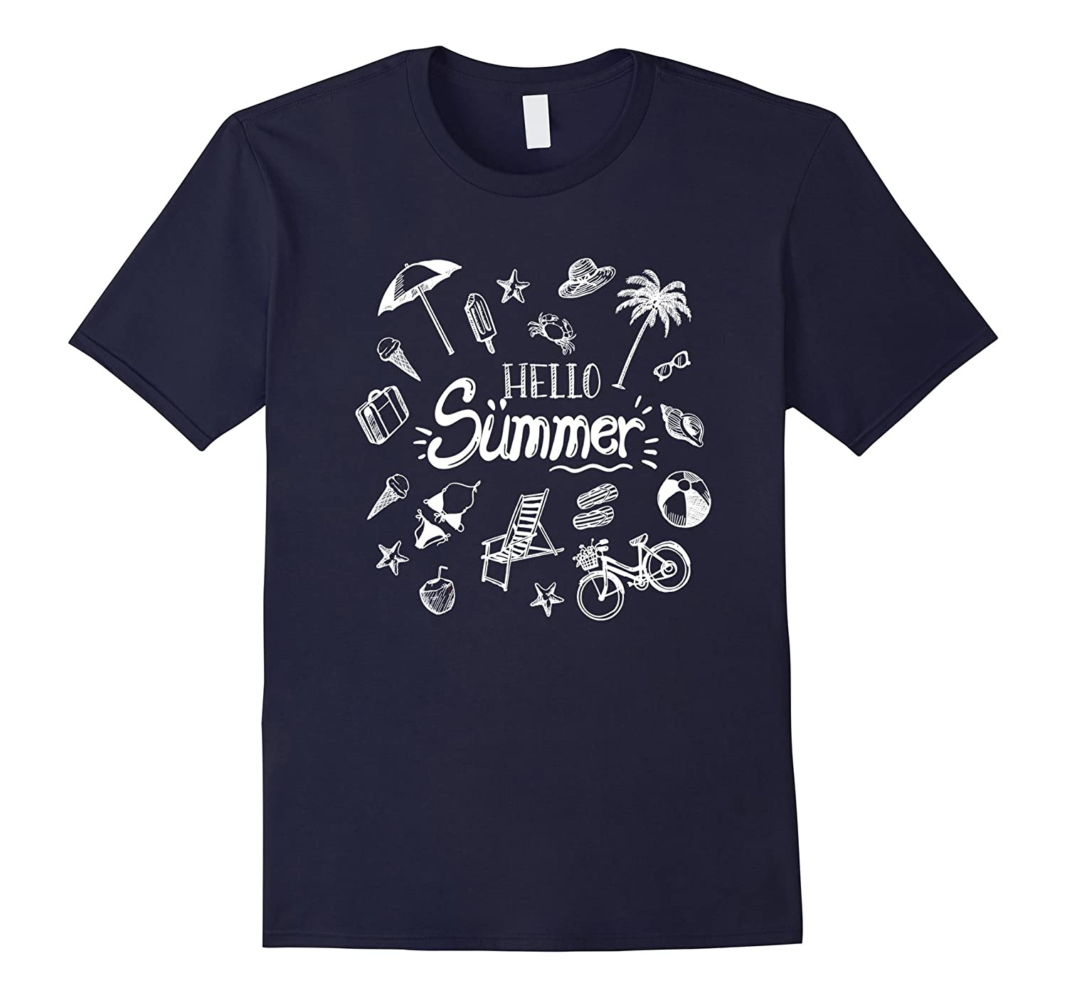 Cool Hello Summer T-Shirt  Gift for Teachers and Student-Vaci