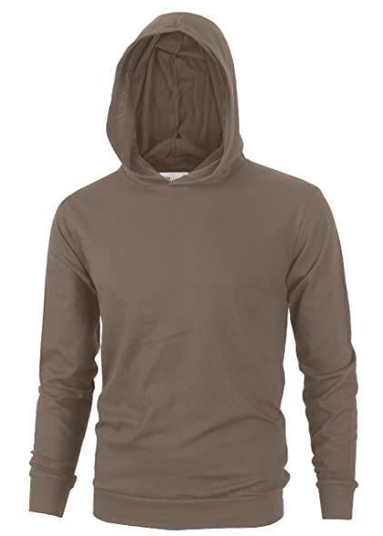 Align Apparel Mens Lightweight Cotton Pullover Long Sleeve Hoodie ...