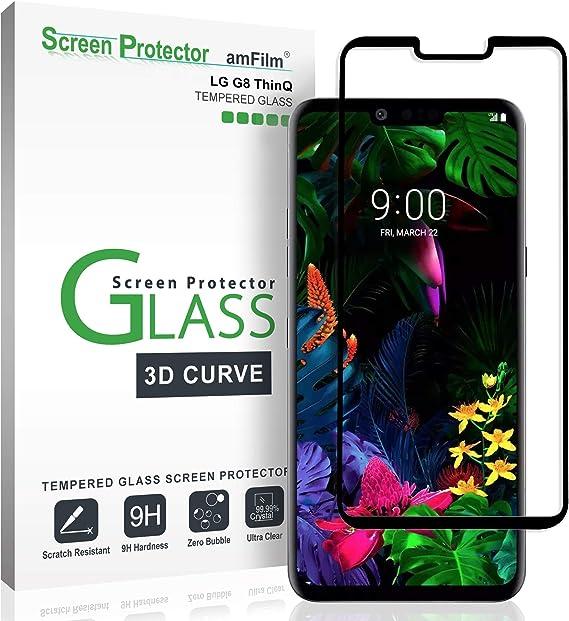 amFilm Protector Pantalla para LG G8, amFilm Cobertura Total ...