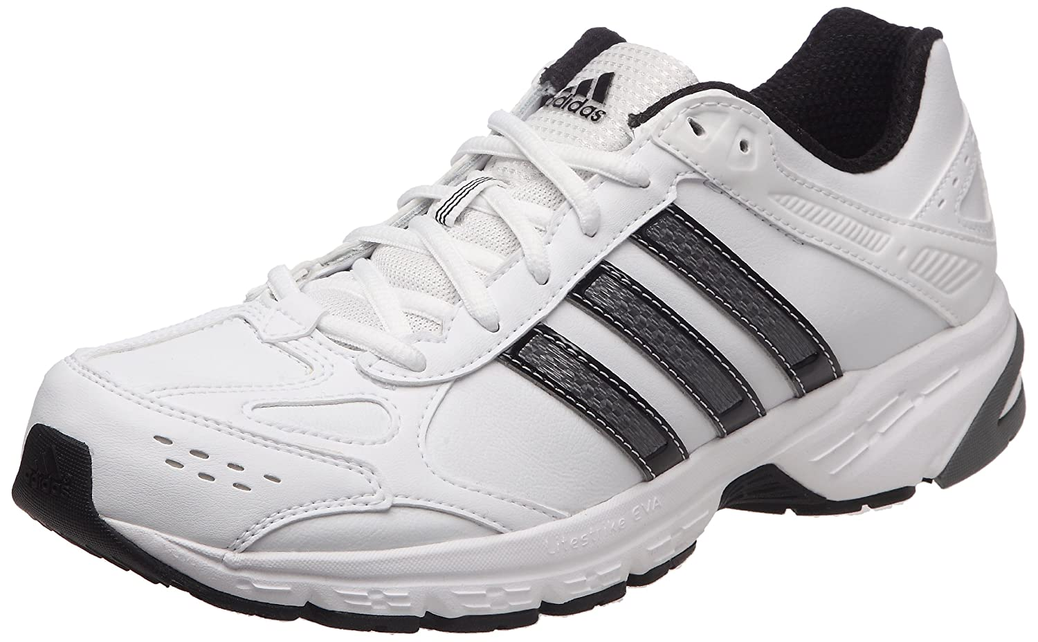 b5ffdb8e51e Adidas Duramo 4 Leather M Laufschuhe running white-black-neo iron ...
