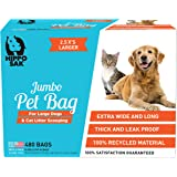 Hippo Sak Extra Large Pet Poop Bags for Large Dogs and Cat Litter, 480 Count