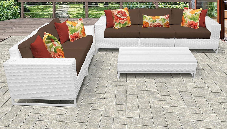 TKC Miami - Juego de 6 sofás de mimbre para patio, color ...