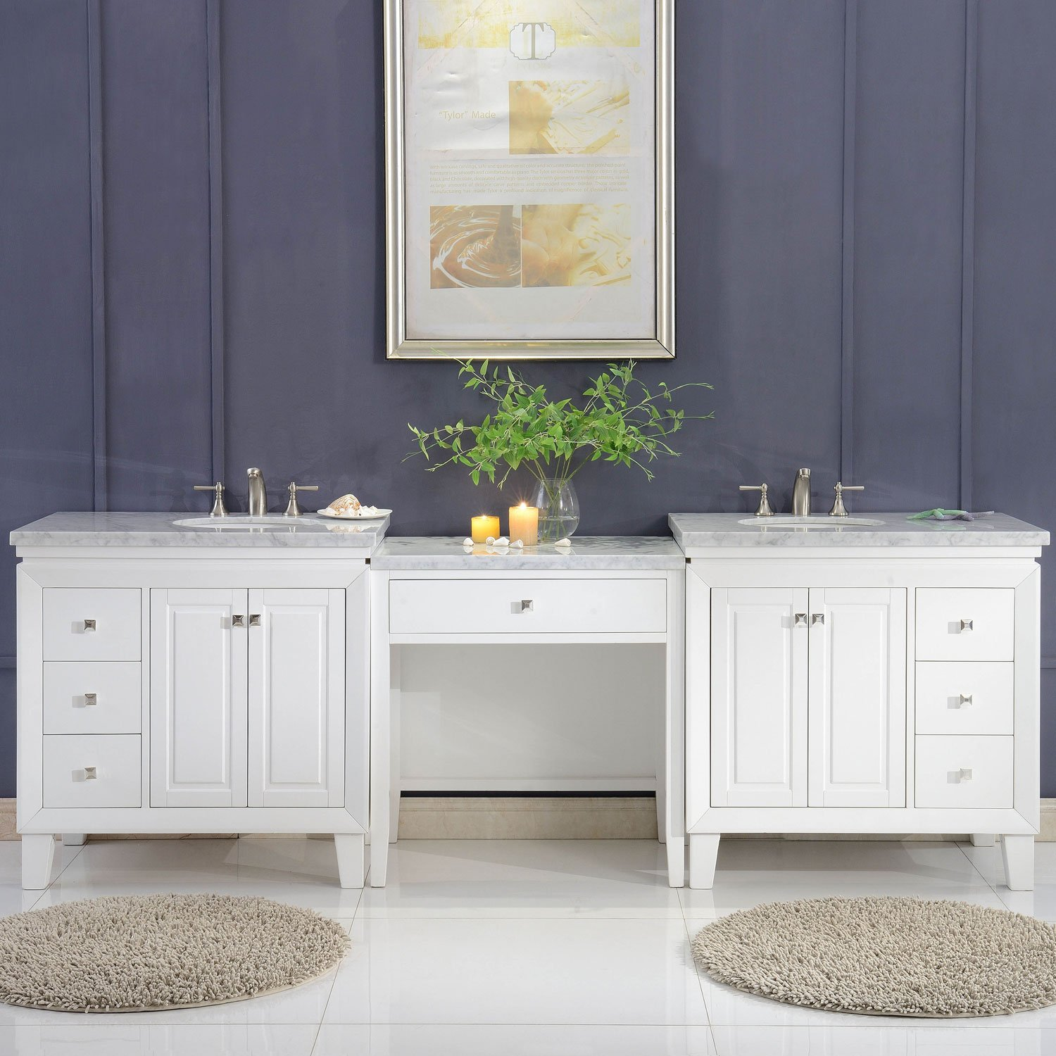 Bathroom double sink cabinets Units Bathroom Amazoncom Silkroad Exclusive V0320ww103d Bathroom Vanity Carrara White Marble Top Single Sink Cabinet 103 Amazoncom Amazoncom Silkroad Exclusive V0320ww103d Bathroom Vanity Carrara