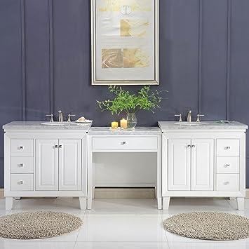 Amazoncom Silkroad Exclusive V0320ww103d Bathroom Vanity Carrara