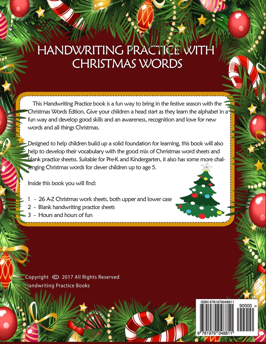 handwriting practice for kids christmas abc words handwriting practice paper workbook sheets with christmas coloring book for kids pre k