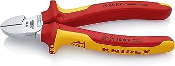 VDE 160mm max 2,8mm 2-Komponenten-Griff Nr 7 KNIPEX Seitenschneider verchromt