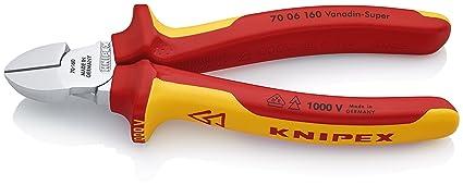 KNIPEX 70 06 160, Alicate de corte diagonal, corte preciso hasta un diámetro de