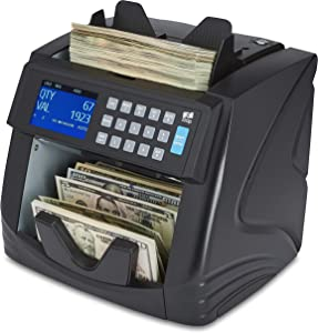ZZap NC60 Mixed Denomination Bill Counter & Counterfeit Detector -Money Machine Cash Currency Value