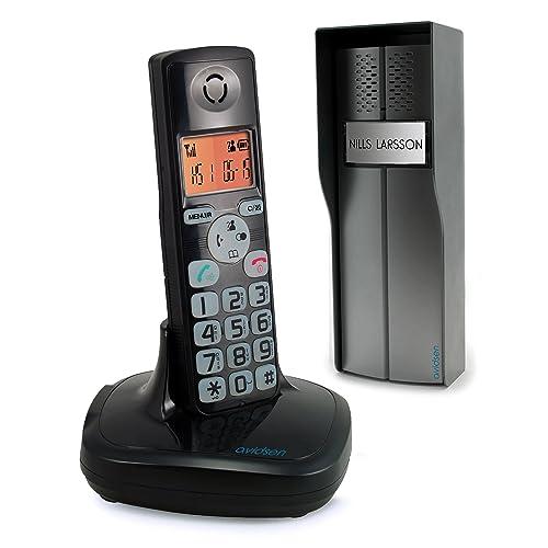 Avidsen 102193 Interphone Audio sans Fil dect öra Fonction téléphone, Noir
